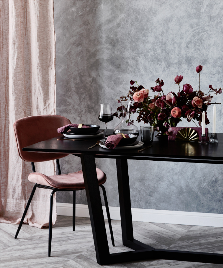 Editorial Stylist Kerrie-Ann Jones Interior Styling Sydney & Melbourne.  Table Setting with Floral Table Centrepiece.  Feminine table setting.  Table Styling Ideas, Wedding Table Styling.  #weddingtable #tablestyling #tableinspiration