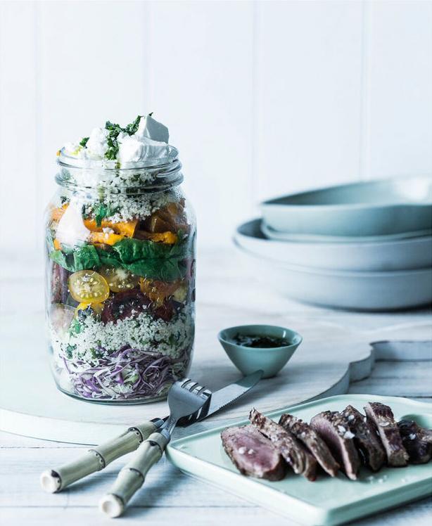 Food Styling by Kerrie-Ann Jones Interior Stylist Sydney & Melbourne.  Style Editor, Freelance Stylist.  Content Creator Sydney.  Food Stylist & Flatlay Stylist.  #foodstyling #tableinspiration #saladjar