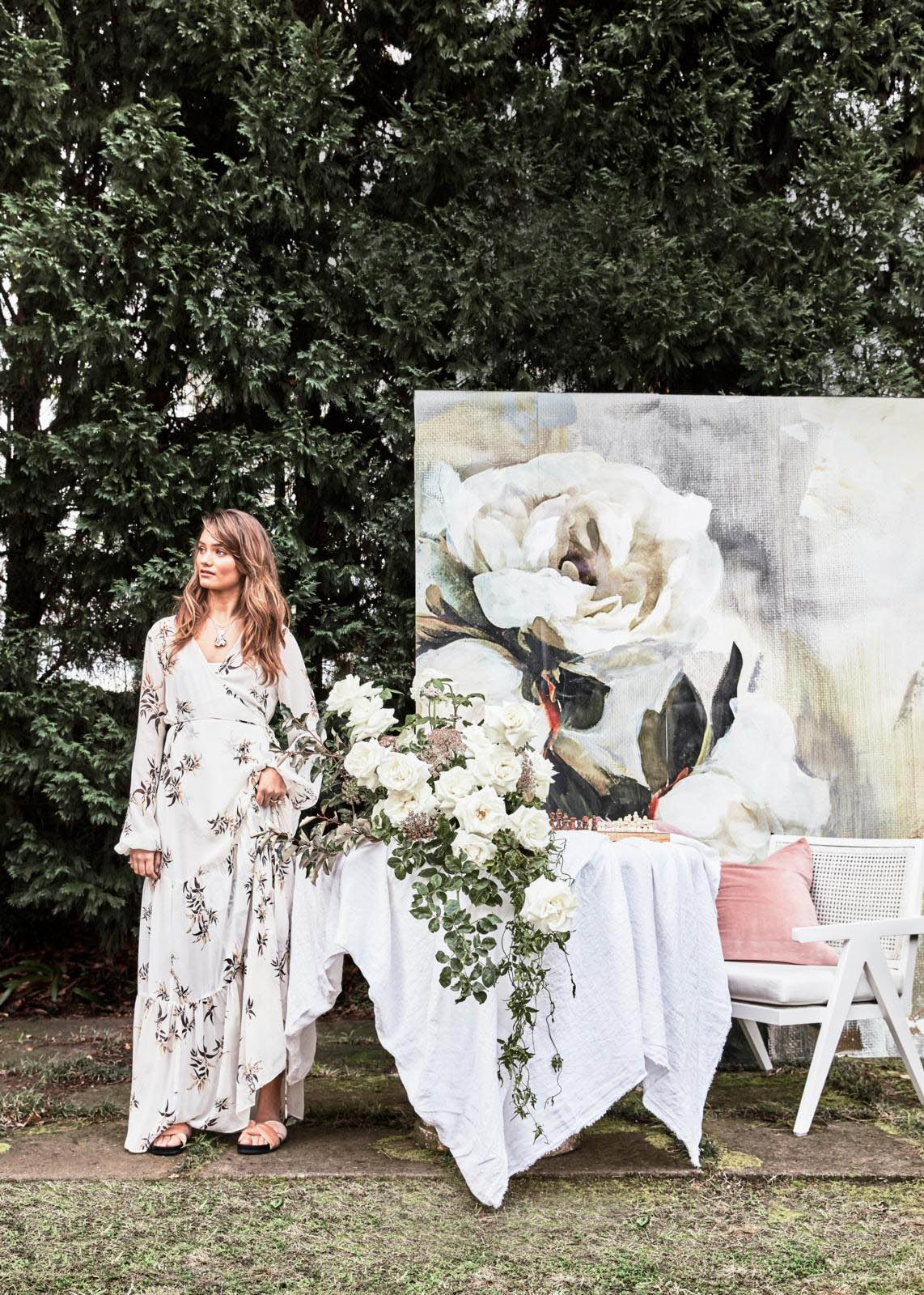 Editorial Stylist Kerrie-Ann Jones Interior Styling Sydney & Melbourne.  Real Living Magazine, interior styling, feminine styling.  Floral styling, floral and fashion styling, Boutierre Girls, French interiors, lady luxe, floristry, floral wallpaper  #ladyluxe #reallivingmagazine #femininestyling