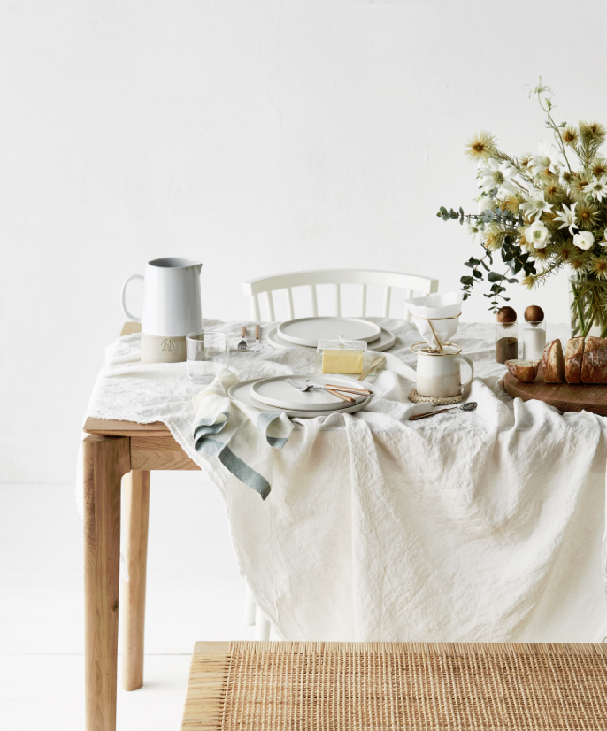 Editorial Stylist Kerrie-Ann Jones Interior Styling Sydney & Melbourne.  Real Living Magazine, Interior Styling.  Feminine Styling.  Breakfast table, breakfast styling, breakfast table styling, country breakfast, country table styling, white table styling, simple table styling.  #countrytable #breakfasttable #tablestyling