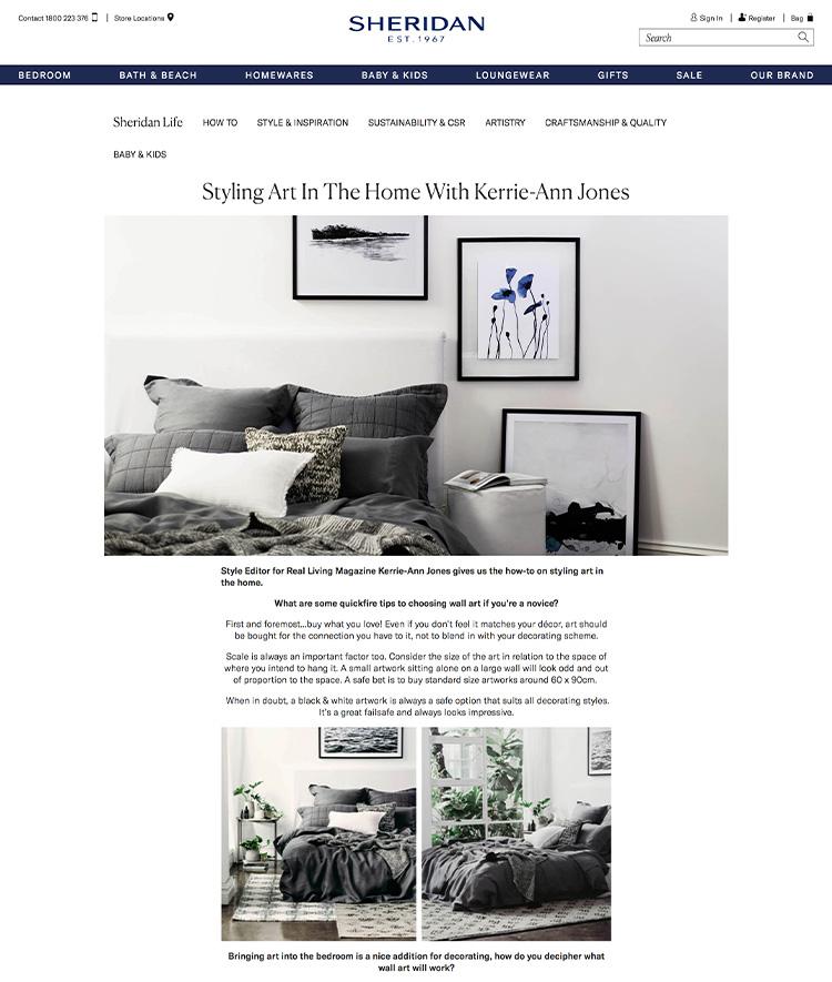 Sheridan - Styling Art In The Home With Kerrie-Ann Jones