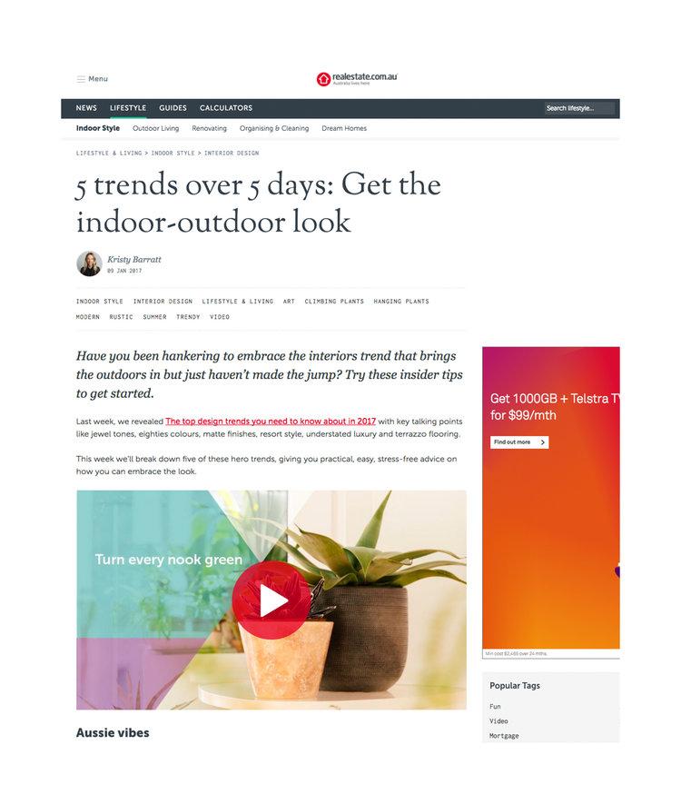 realestate.com.au - 5 Trends Over 5 Days