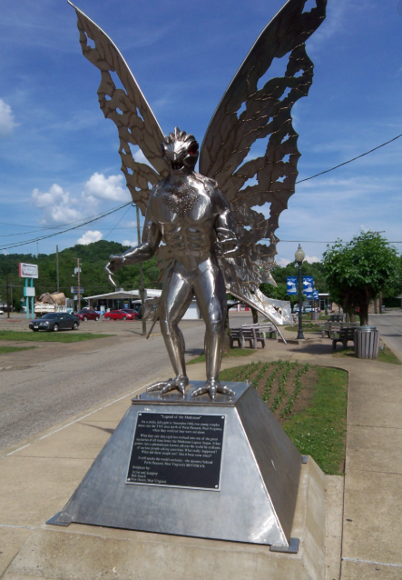 Mothman Statue in Point Pleasant West Virginia