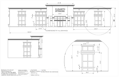 ELIZ INTERIORS STORE FRONT NO AWNINGS. DRAWING NUMBER 12.jpg