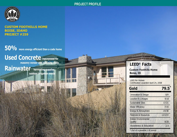 *Used as a case study in the Guide To Green Building Rating Systems by architect Linda Reeder (John Wiley & Sons, 2010)