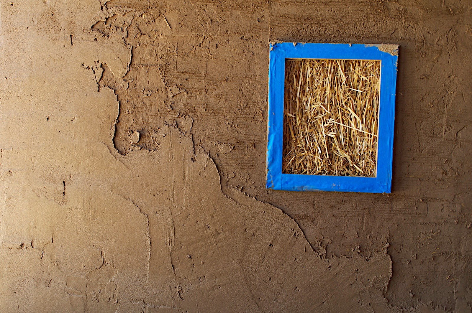 Window of Truth - commonly included in straw bale homes to show what it's made of!