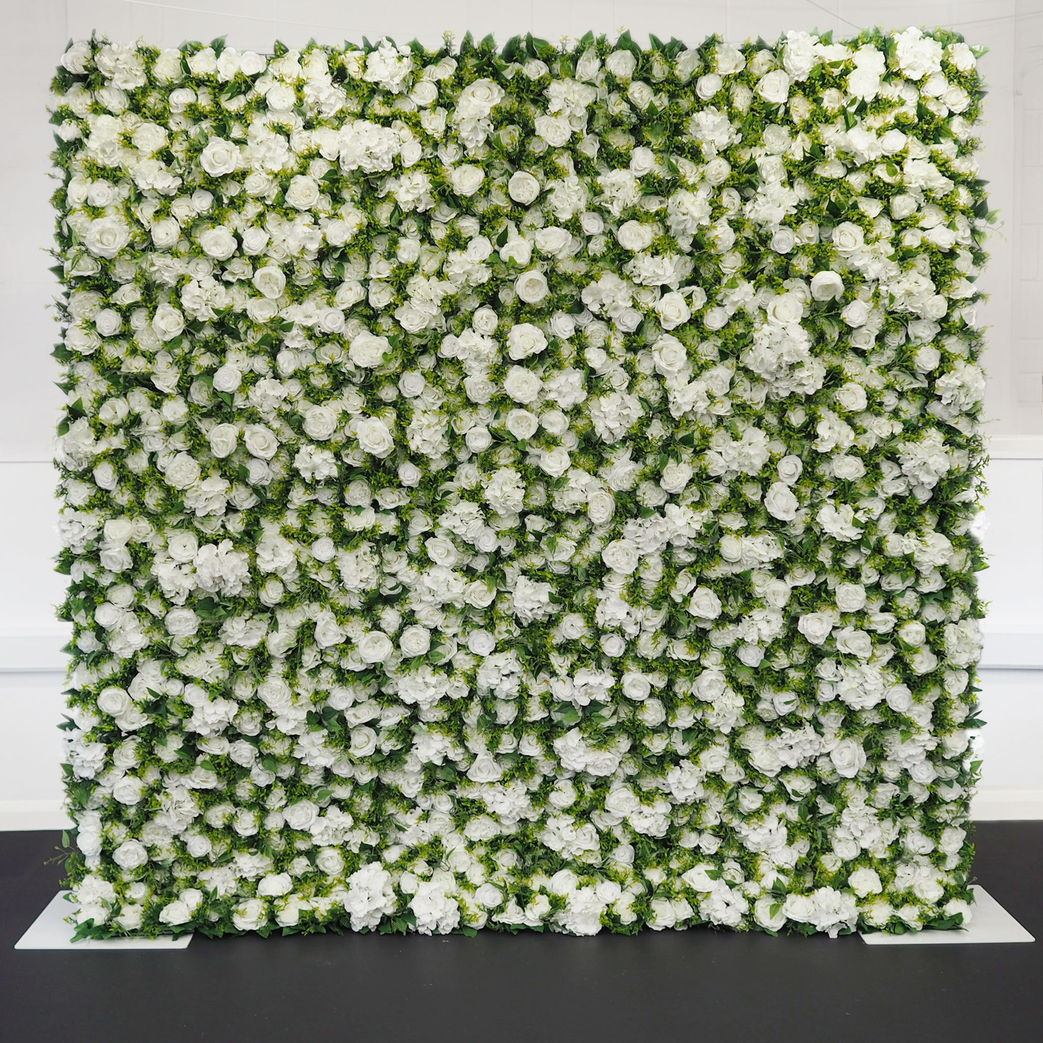 The Ivory And Green Wall Devon Luxury Flower Wall Hire Petal And Knot