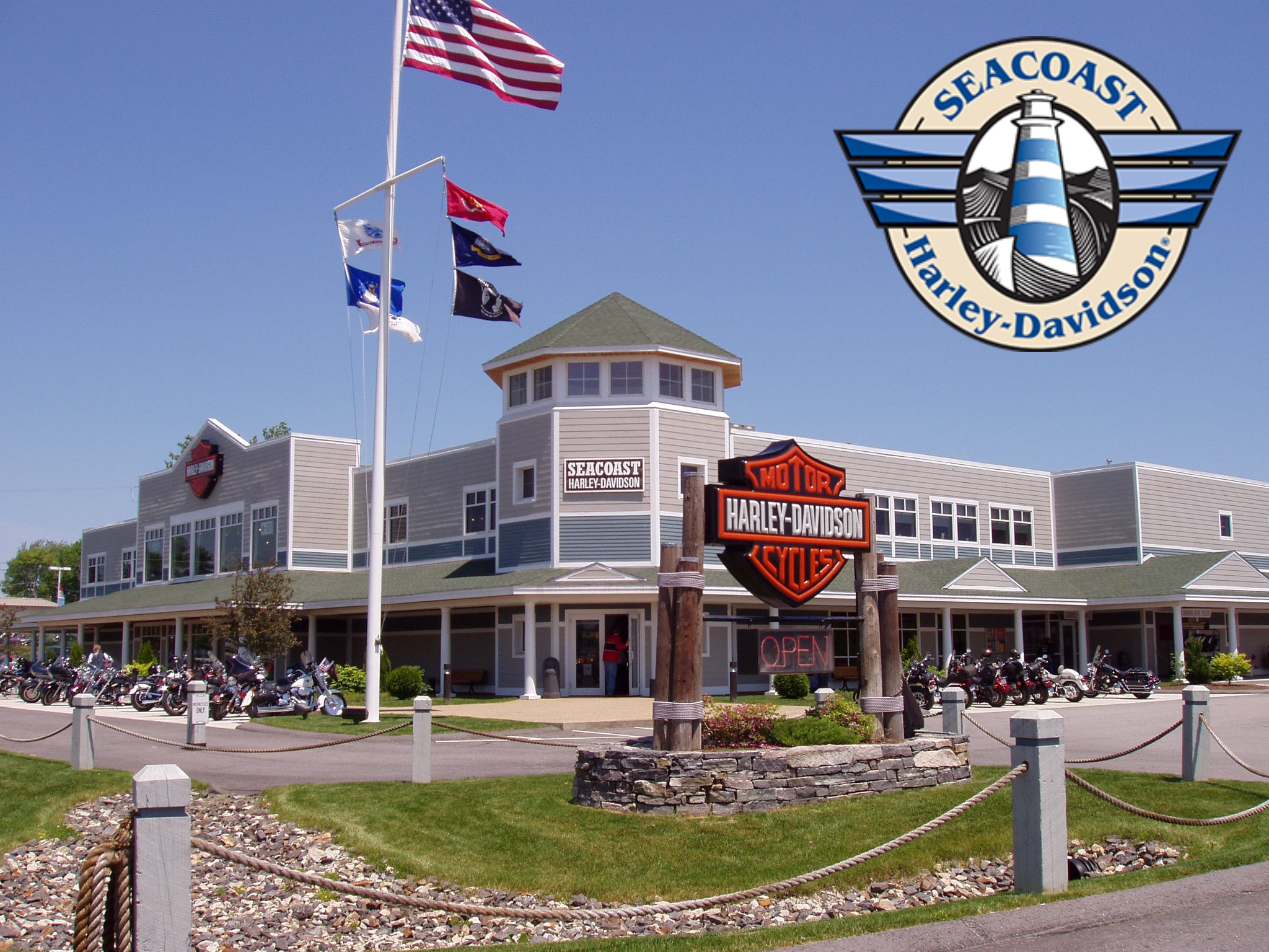 Seacoast Harley-Davidson® is located in North Hampton, New Hampshire. It has been the seacoast's only dealership since 1982. Seacoast H-D has won the Gold Bar and Shield Award for the past three years. Stop in on your way to the beach, or follow us on our  Facebook page ! Live free and ride NH!