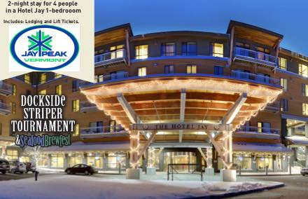 Jay Peak This certificate entitles you to a 2 night stay for 4 people in a Hotel Jay 1 bedroom (includes lodging and lift tickets!)  *some restrictions may apply  Valued at $2000