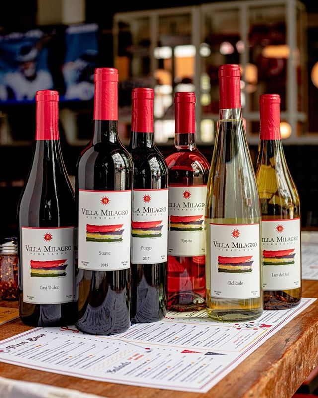 BIG announcement! We're now serving wine. Try one of our bottles from New Jersey's finest @villamilagro vineyard.