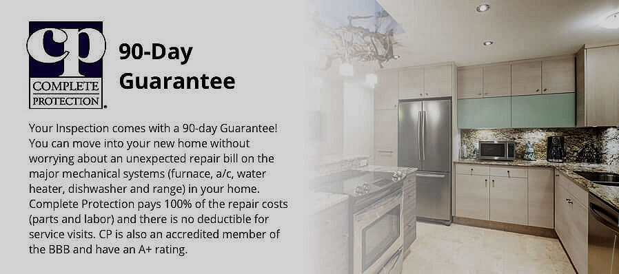 Included 90 Day Guarantee. This helps reduce repair costs associated with buying a resale home. Remember resale homes are not different than used cars. Resale homes have had wear and tear and will need repairs and maintenance.