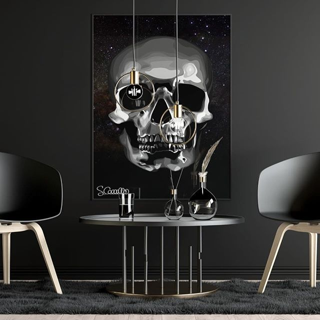 """We control matter because we control the mind. Reality is inside the skull."" -George Orwell 💀 Art by @artecavallo 🦋 SKULL PRINTS NOW AVAILABLE"