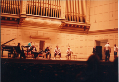 The Chieftains rehearsing at Symphony Hall