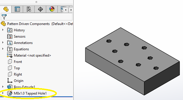 SolidWorks: Pattern Driven Components — Perception Engineering
