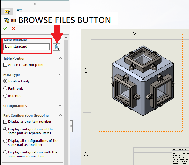 SolidWorks: Custom BOM & REV Table — Perception Engineering