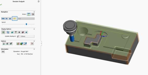 SolidWorks: CAM Tool Path — Perception Engineering