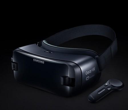 Figure 3: Samsung Gear VR (Image provided by:  https://www.samsung.com/global/galaxy/gear-vr/ )