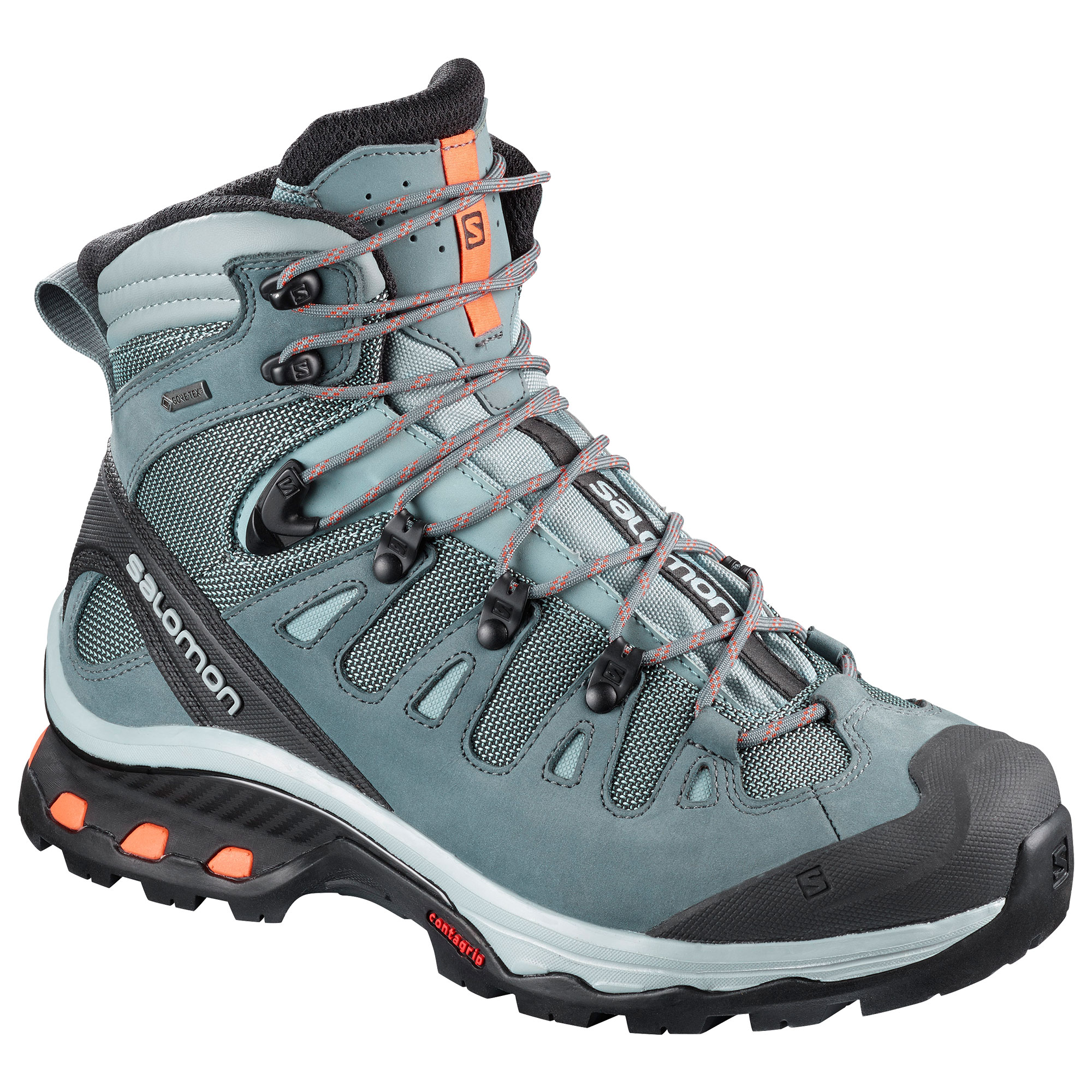 Salomon Quest 4D 3 GTX  Women's Hiking Boots in Grey/Orange