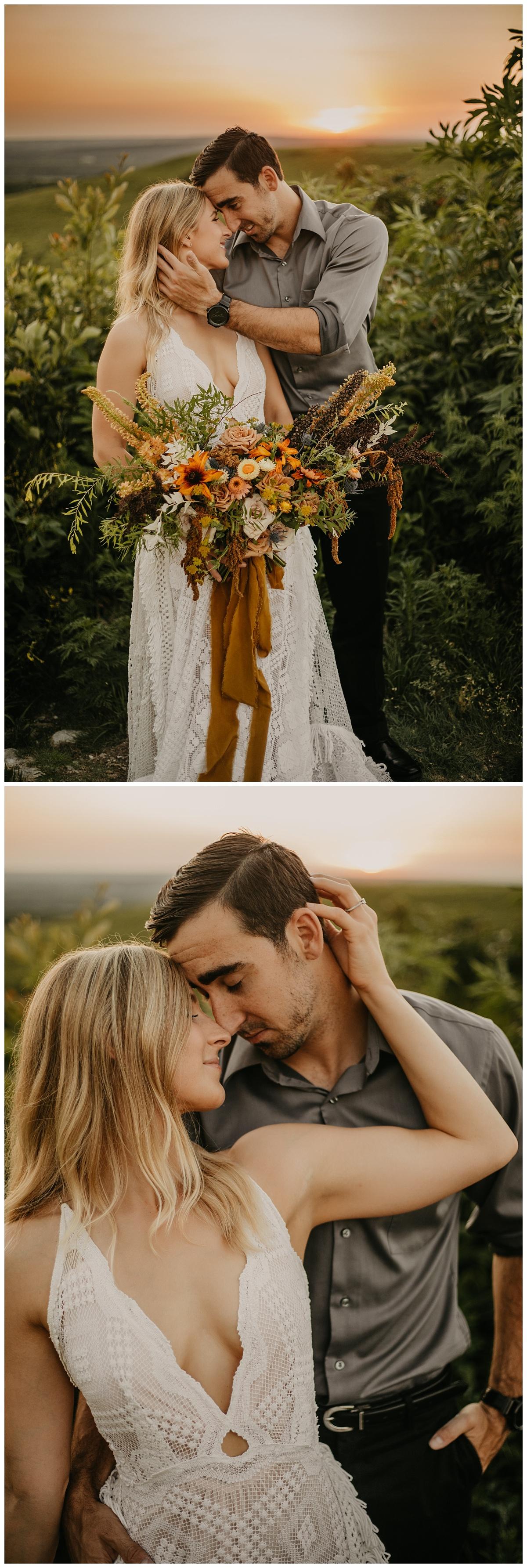 Flint Hills Elopement | Kansas City Wedding Photographer | Outdoor Wedding | Reclamation Wedding Dress | Vintage Wedding Dress| Colorado Elopement
