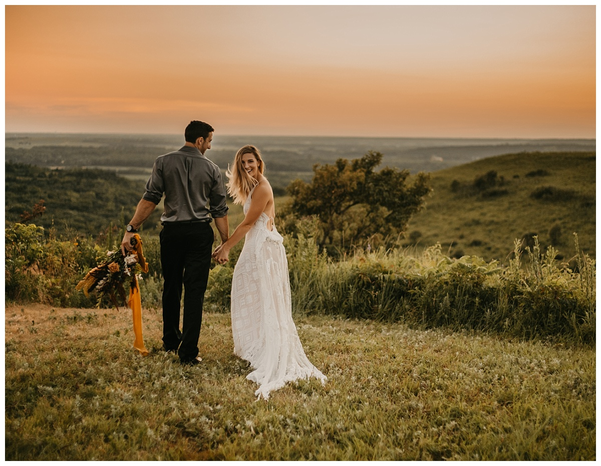 Flint Hills Elopement | Kansas City Wedding Photographer | Outdoor Wedding | Reclamation Wedding Dress | Vintage Wedding Dress| Colorado Elopement