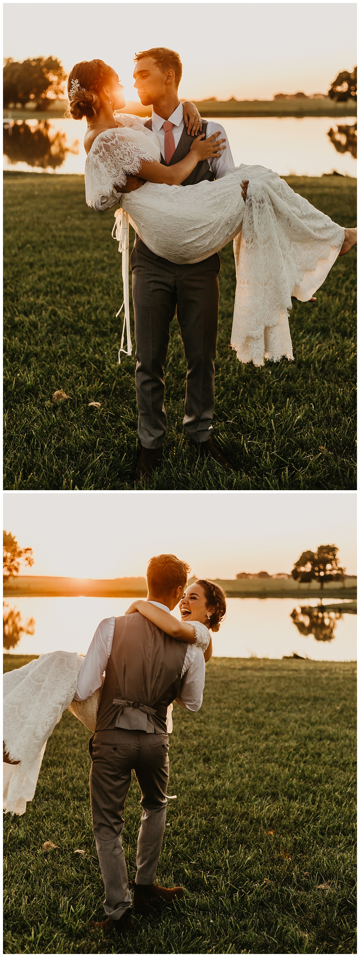 Kansas City Outdoor Wedding | Kansas City Elopement | Boho Wedding | Sunset Wedding