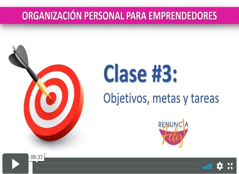 Conoce la diferencia entre objetivos, metas y tareas. Complementa esta presentación con el video de la clase en vivo disponible en el enlace abajo.