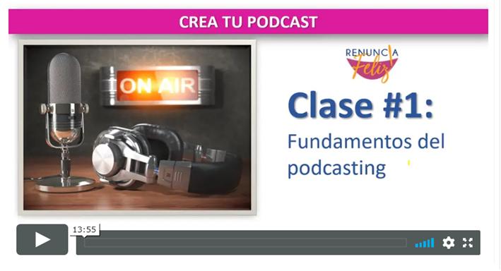 Conoce la definición técnica de podcast y familiarízate con los principales conceptos técnicos que utilizaremos a lo largo del curso