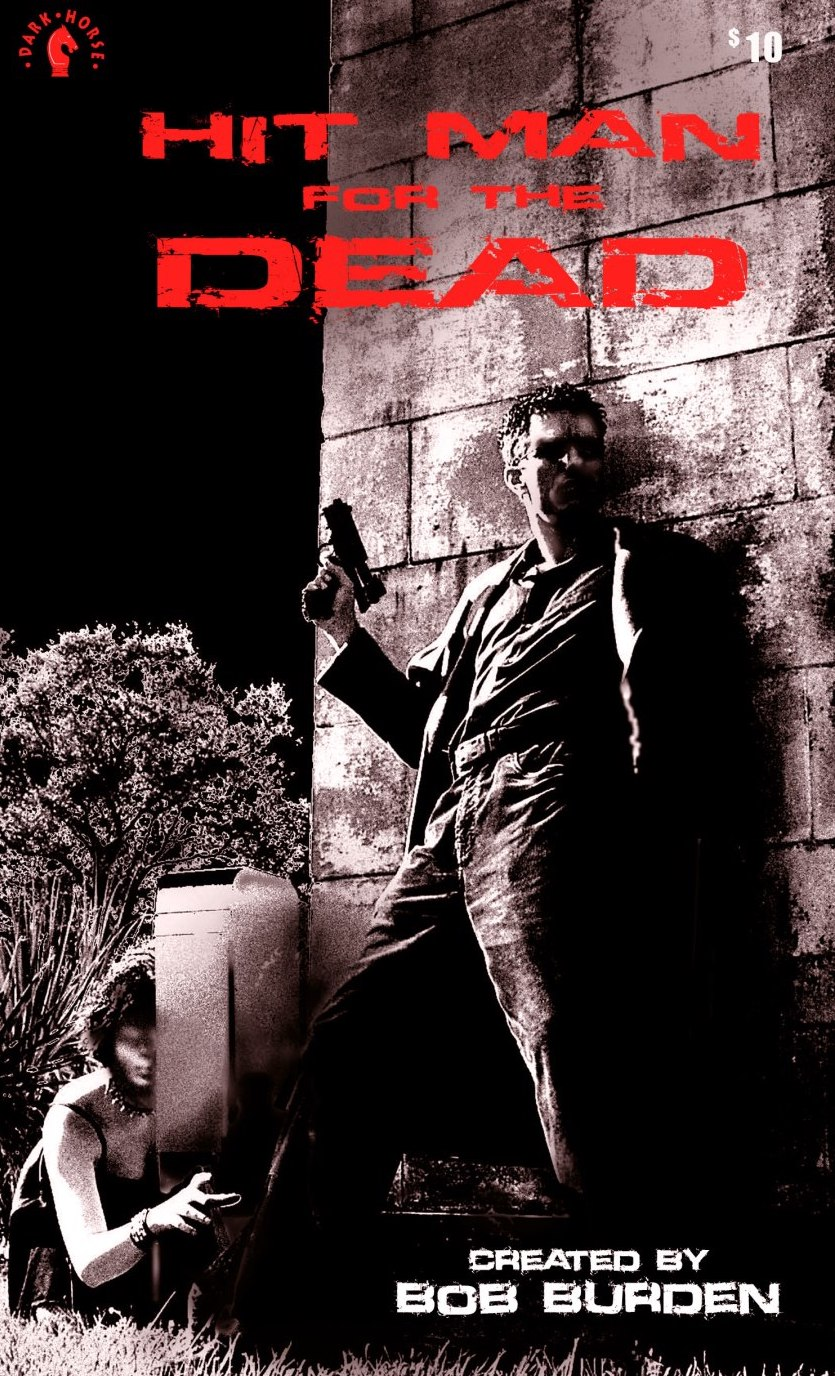 """Hitman For The Dead Comes to SDCC2019 - FOR IMMEDIATE RELEASE:SDCC 2019: BOB BURDEN Changes Direction With Supernatural Crime Thriller 'HITMAN FOR THE DEAD'MILWAUKIE, Ore., (July 15, 2019)— """"You know how people say 'Someone should do something about that'?...Well, I'm that someone,"""" says Anthony Harken, the wandering assassin in Burden's new series.After losing his soul in a card game, a wayward, young Anthony Harken takes up with a crew of vagabond serial killers roaming America, administering one of the last surviving rituals of the Spanish Inquisition: avenging the wrongfully slain, and freeing their souls to pass on and find peace. He is the Hitman For The Dead!Hitman For The Dead is a radically different new series, not only for writer and artist, Bob Burden (Flaming Carrot, MysteryMen), but as a new departure for the comic world. """"Comics are about heroes and villains. My protagonist is a more ordinary person – and more complex, with character flaws and occasional flashes of exceptional endeavor. He is thrown into a grim fate by his own poor life choices but mans up, without getting bitter or whiney about it.""""An all text, limited """"beta"""" version of the first Hitman For The Dead episode, has been printed in time for SAN DIEGO COMIC CON and will be for sale in a vintage paperback format at the Dark Horse Comics booth.On the inception of the supernatural detective story, Bob Burden had this to say: """"This paperback project started out as a strategy to promote the new 400-page Flaming Carrot Omnibus that we have coming out in September from Dark Horse. Unlike Flaming Carrot, people instantly get what Hitman For The Dead is about, and I feel it has a very viral potential. Doing a text story was an experiment as was the path I took with the story's tone. I wanted to change directions, blow out the pipes so to speak, and do a down-and-dirty hardcore thriller/horror/detective thing that would diverge from my humor stuff.""""I wrote it quick. I had a completed comic book scr"""