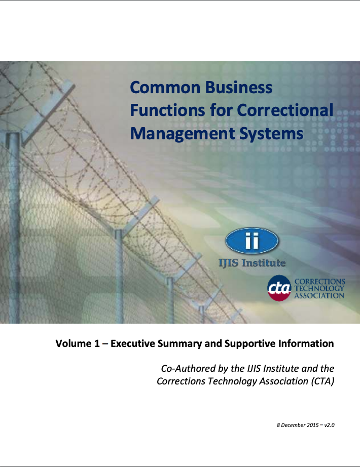 Common Business Functions for Correctional Management Systems