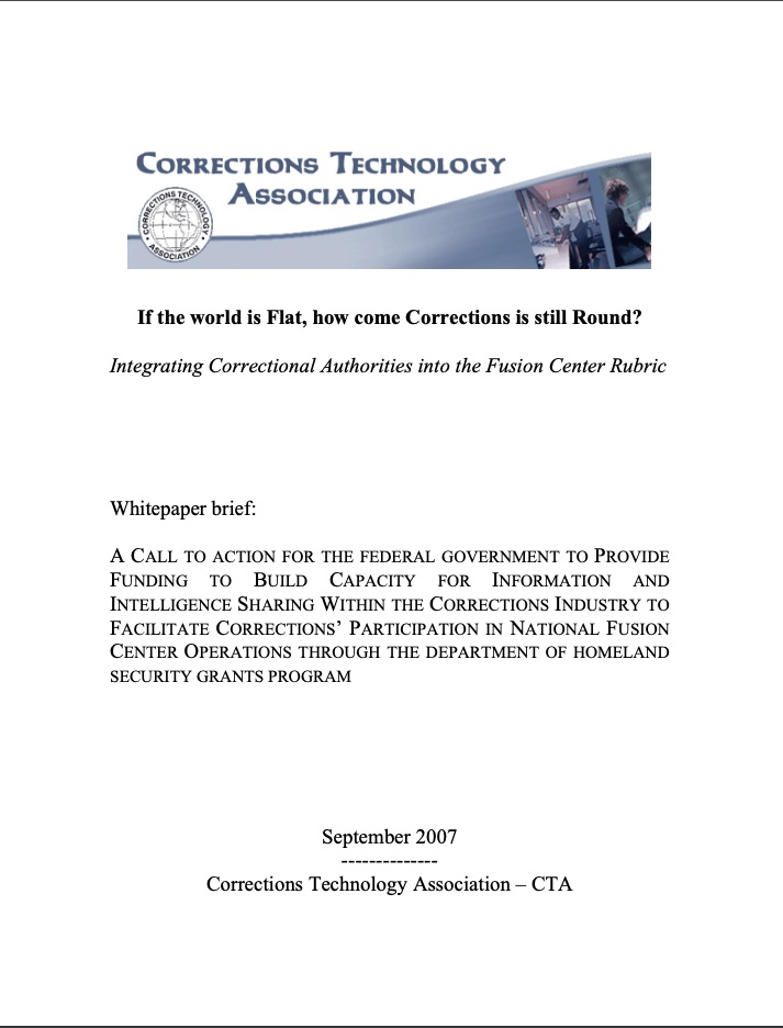 Integrating Correctional Authorities into the Fusion Center Rubric