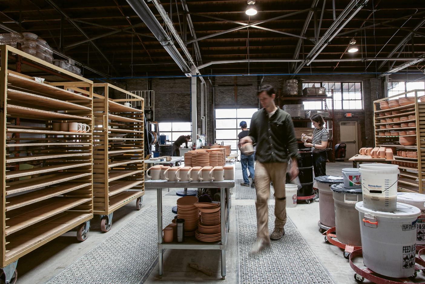The team at East Fork in Asheville making things happen in their open workspace. Article by Paul Clark. Photography by Jennifer Cole.