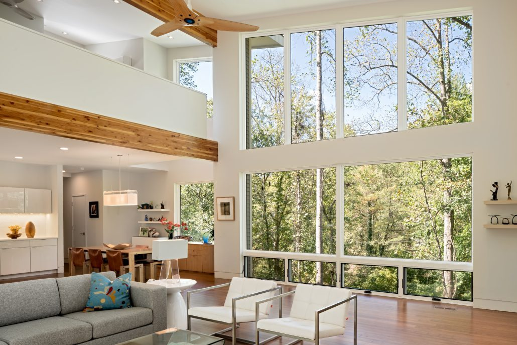 Red Tree Builders' Modern Mountain Home near Asheville, NC.
