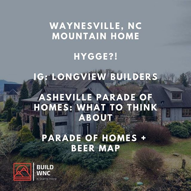 Newsletter is out. 🔗  in bio. Parade of Homes + Beer Map is definitely in our bio. Check 'em out and enjoy @ashevillehba's Parade of Homes!⠀ ----⠀ #hometour #paradeofhomes #ahba #asheville #mountainhomes #buildwnc