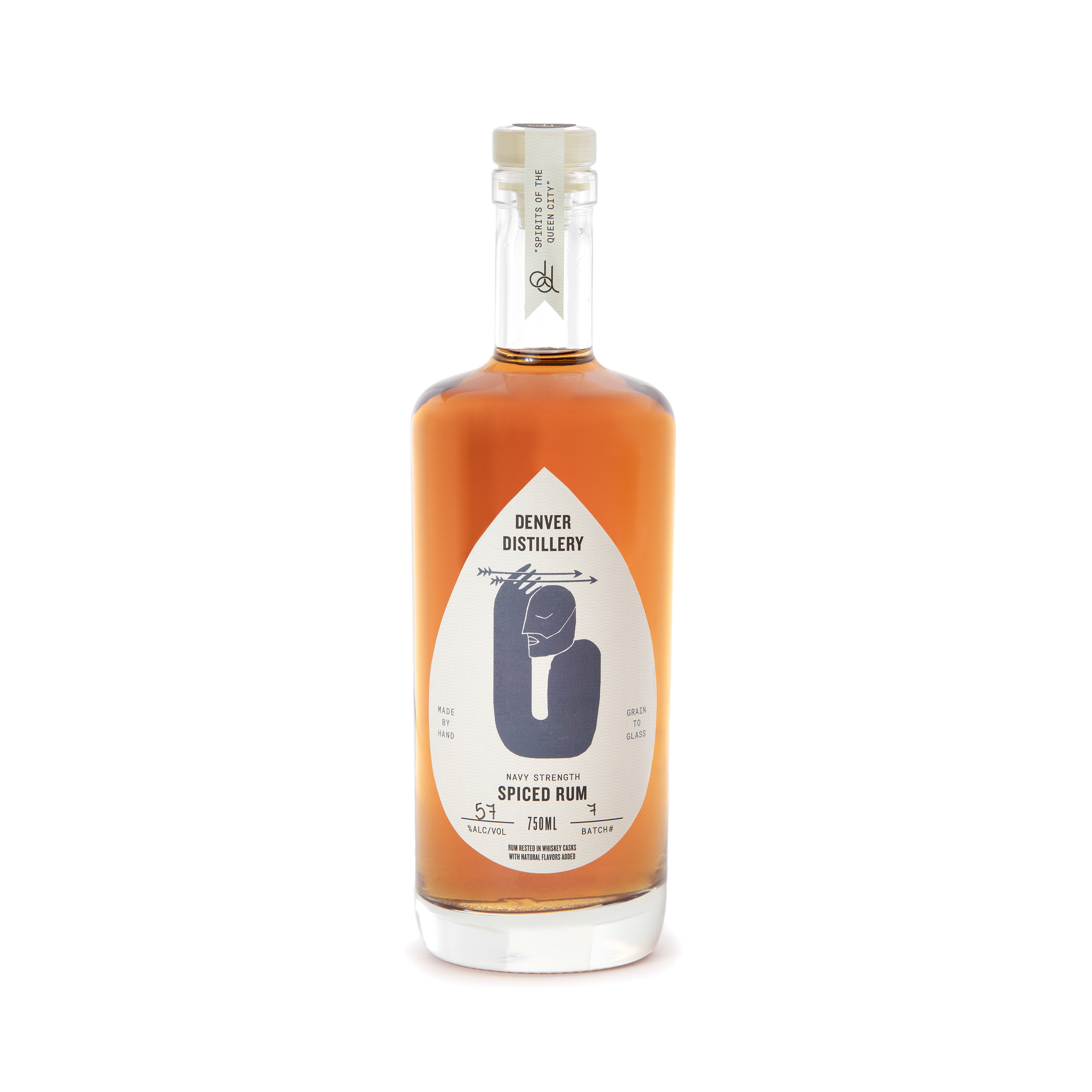 NAVY STRENGTH SPICED RUM - – rum rested in DD Bourbon barrels– island-style spiced rum– made from U.S. grown organic sugar cane molasses and U.S. grown organic sucanat