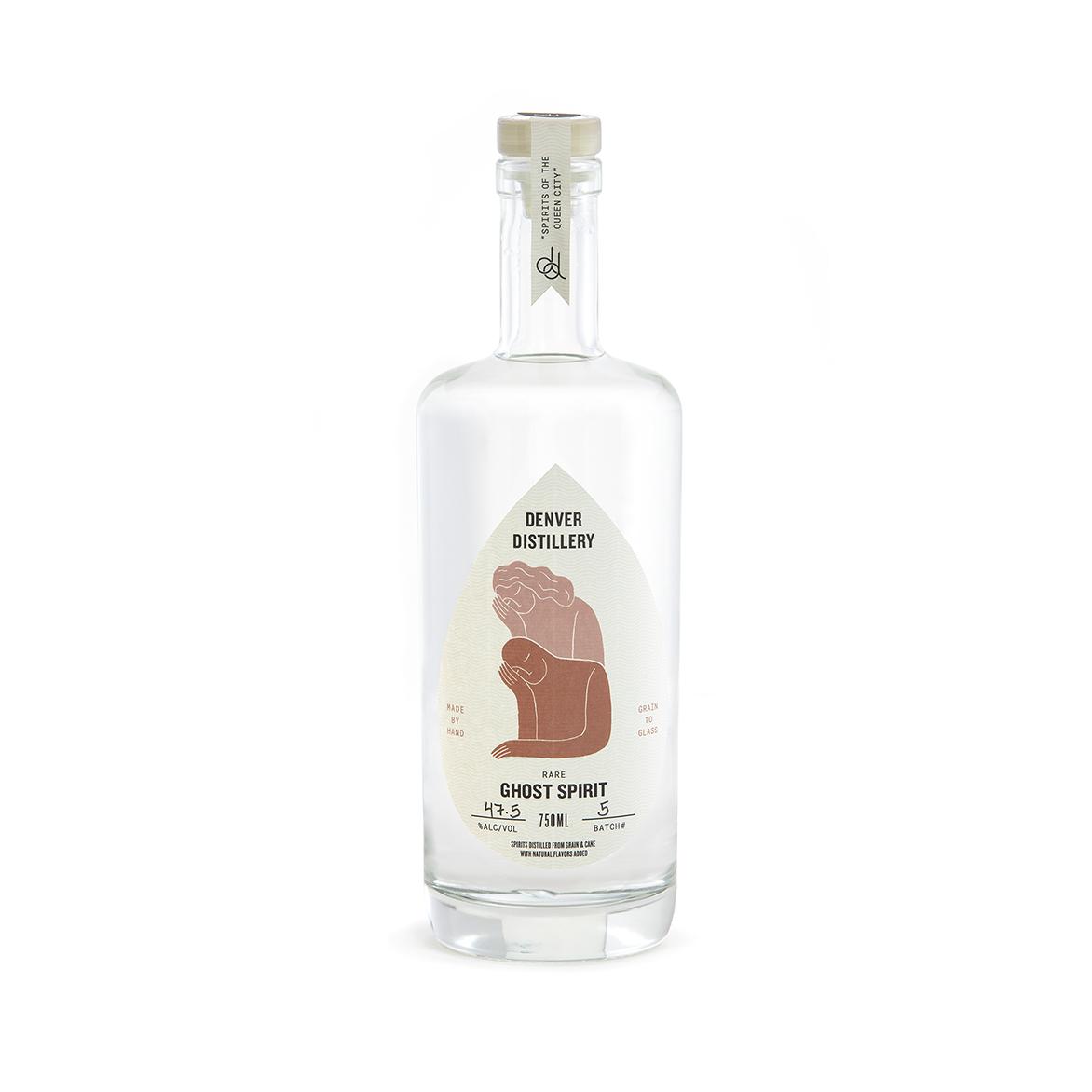 GHOST SPIRIT - – traditional mountain recipe– made from four grains & molasses– distilled through fresh lemon-lime citrus