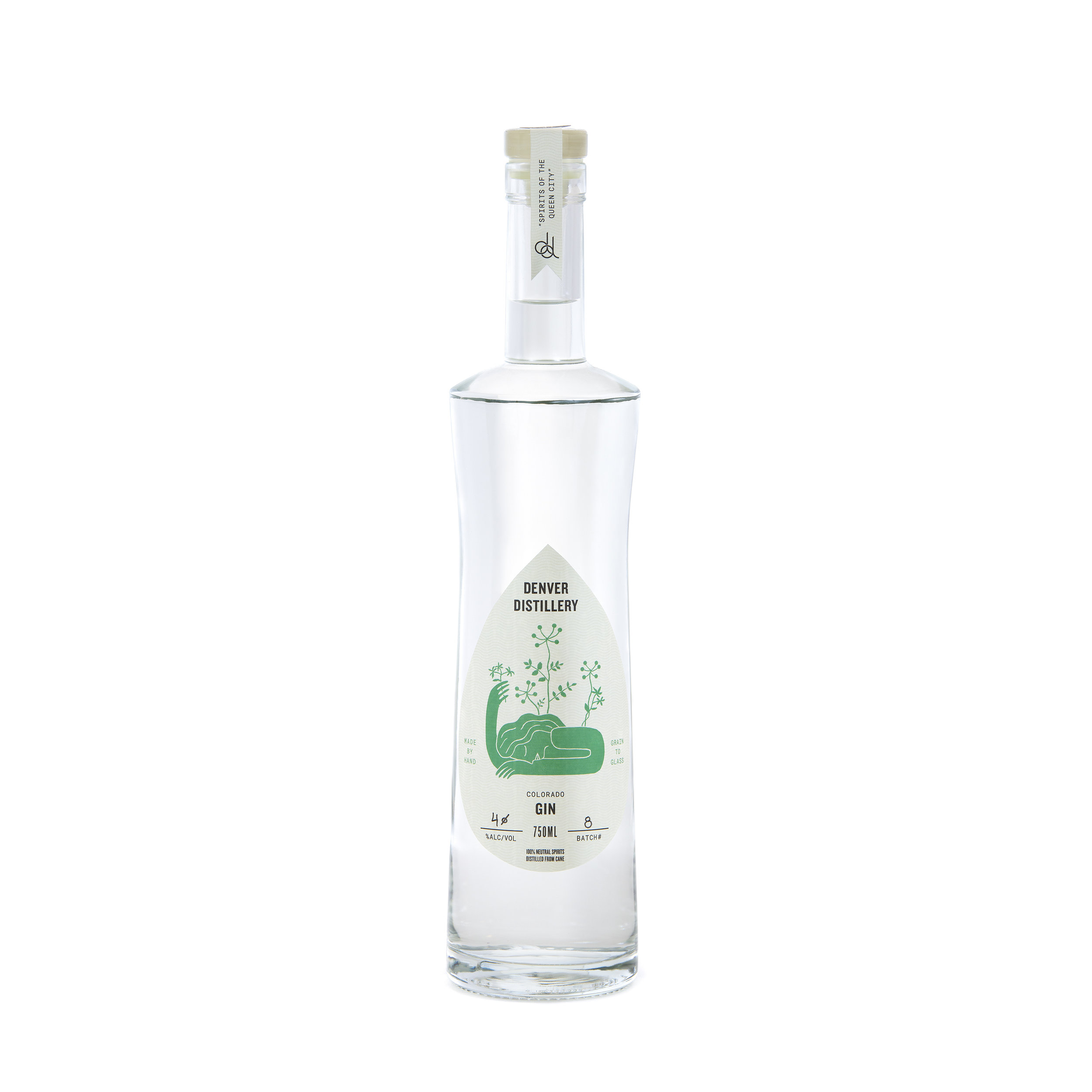 DENVER DISTILLERY GIN - A robust New American style gin from Denver's favorite gin distillery. Defined by a range of nineteen botanicals, including jasmine and bergamot, in tandem with our toasted juniper berries and our base spirit, our silver rum.When Ron Tarver opened Denver Distillery in 2018, he set out to specialize in small-batch, grain-to-glass spirits using natural, tasty, local ingredients.Our latest innovation starts with our very own silver rum, itself distilled from U.S. organic sugar cane molasses and sucanat to create a truly unique base. We then distill this one more time with toasted juniper berries and a delectable blend of 19 different botanicals in a gin basket in the column of our still. This type of vapor infusion typically results in a lighter more floral style gin.We make our own in-house tonic to compliment this refreshing twist on gin.Located in a historic South Broadway hotel in the beautiful Mile High City, Denver's first distillery-pub offers free tours by appointment.
