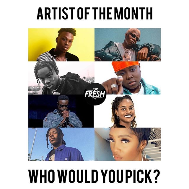 #urfreshtv #artistofthemonth who would you choose? (They don't have to appear in the pic) #afrobeats #urfreshtvpromotion