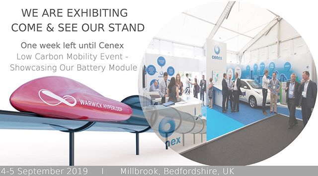 Hey everyone!👋 We have exciting news for you!  We will be showcasing our 1st High Voltage Battery Module.  Where?  At Cenex Low Carbon Vehicle Mobility Event  For Registration: https://www.cenex-lcv.co.uk  When? On 4th/5th September in Millbrook, Bedfordshire.  Come and see us at WMG, University of Warwick stand!  We are looking forward to meeting you soon!