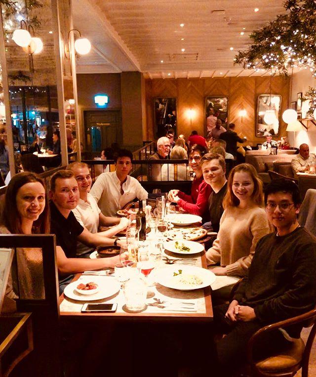 Business team dinner, celebrating the spirit 🥂