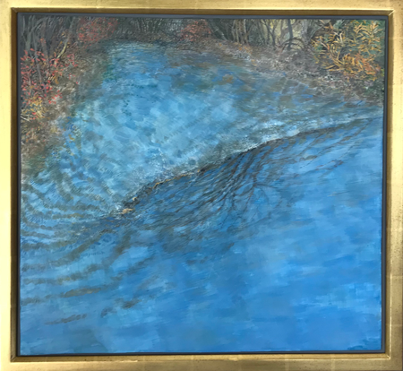 Reflections on Mill Brook - Egg Tempera, 23 x 25