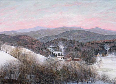 "Winter Morning - Unframed: 16 x 20"", $124Framed: 18 x 22"", $230"
