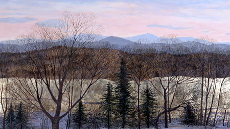 "Winter Glow - Unframed: 15.75 x 25"", $210Framed: 23 x 32.5"", $414"