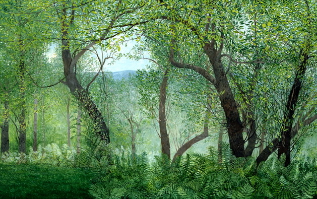 "Apple Trees - Unframed: 14.75 x 22.25, $210Framed: 22 x 29"", $414"