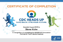 Heads Up (CDC)  Duration: ~30 mins Certification: Annual