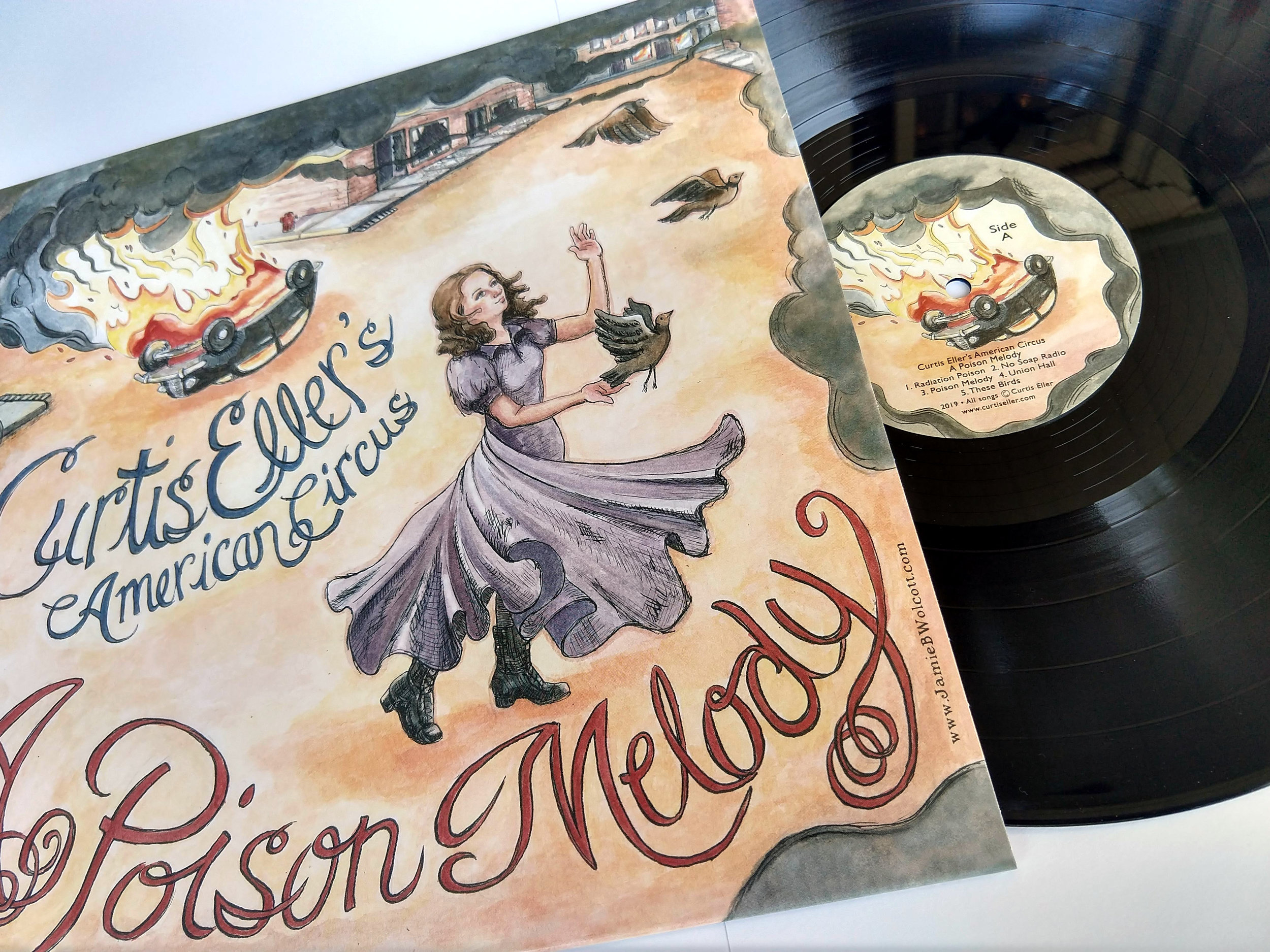 A Poison Melody (vinyl) $18 + shipping - 9 song album on classic, black vinyl