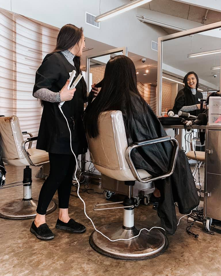 Our students have over 9 months on the clinic floor. The salon setting allows them to practice hair AND client guest engagement!