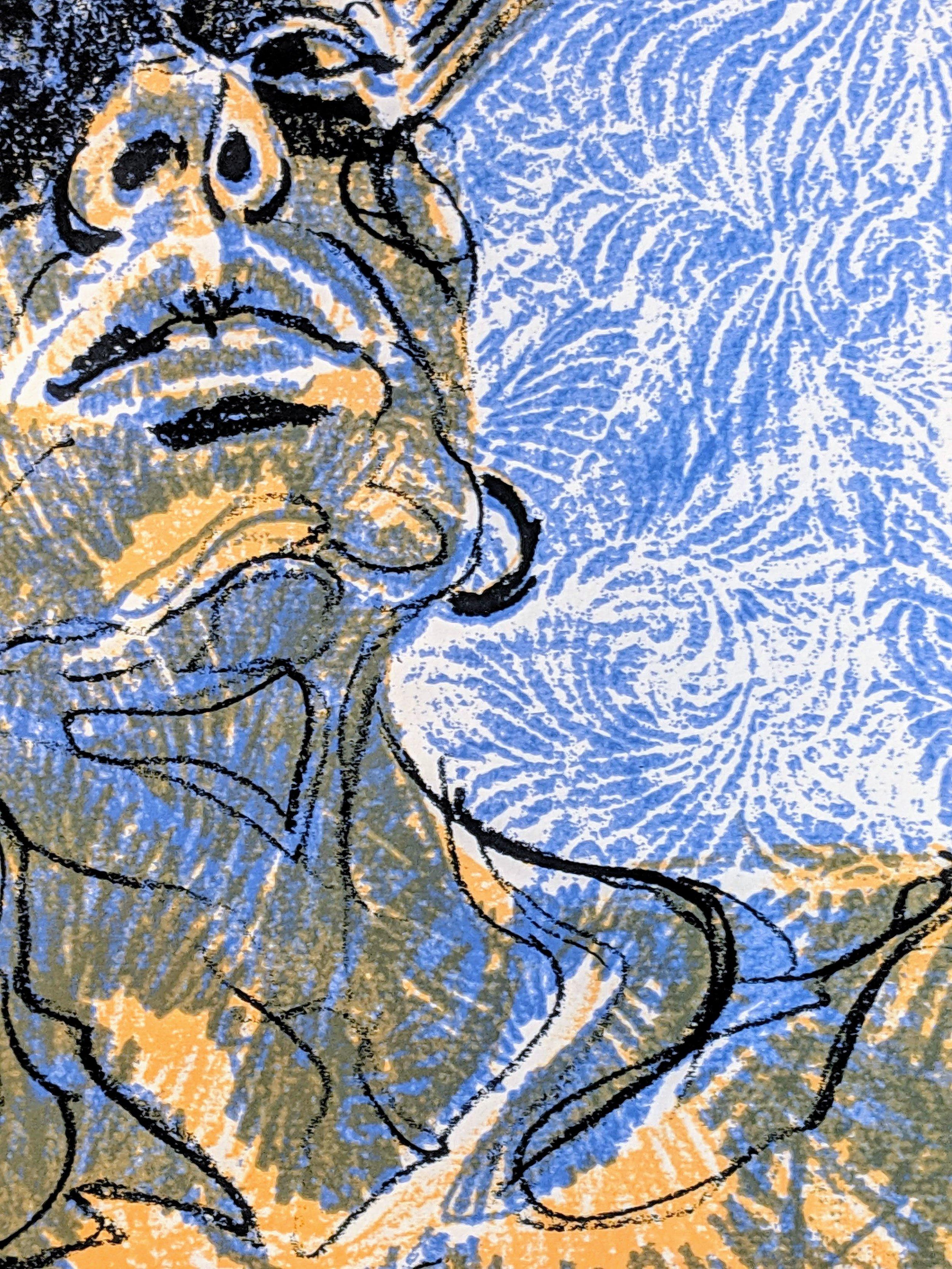 'Tirzah 2' Detail, Screenprint (2019)