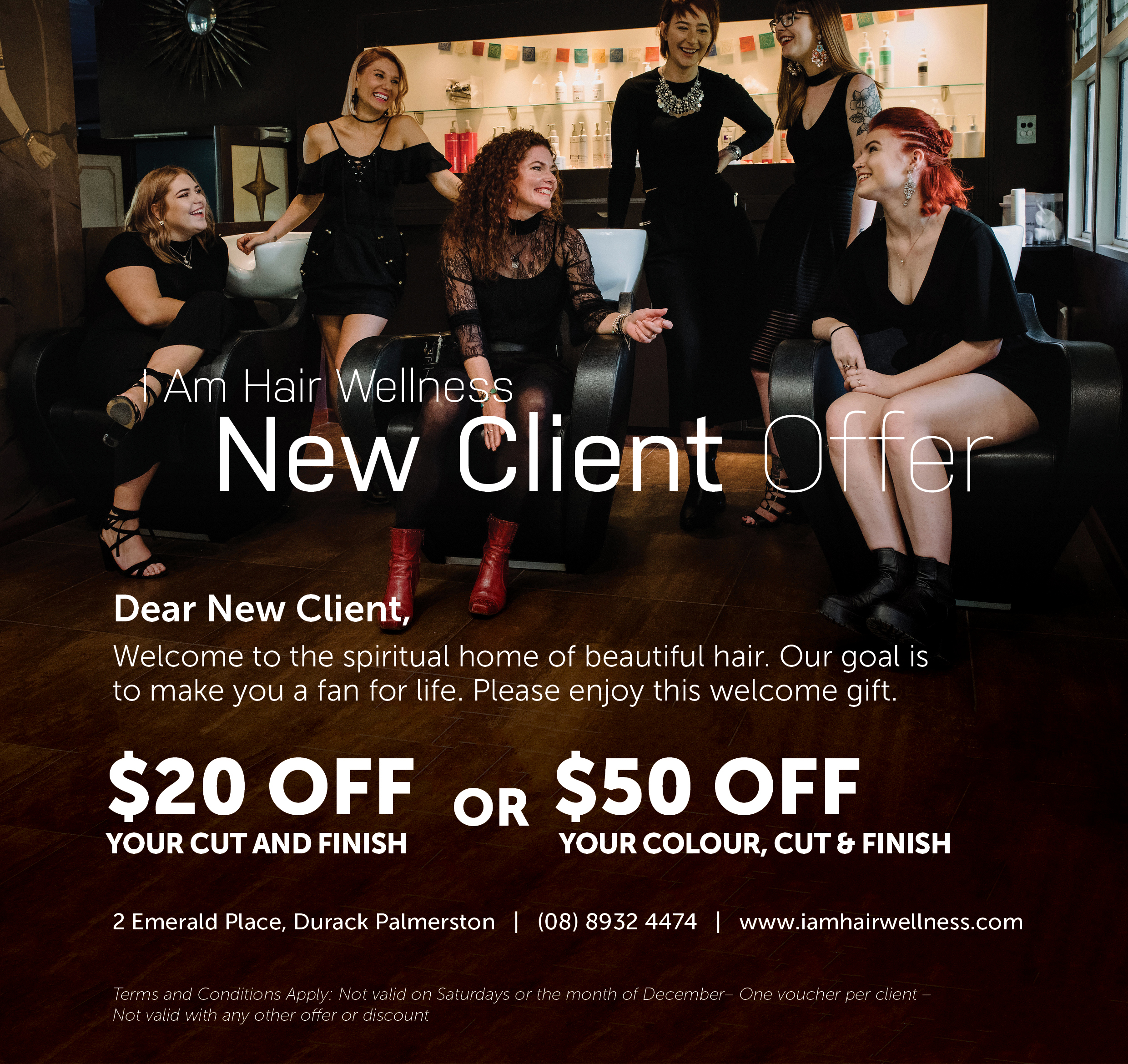 New Client Offer - Never visited us before? Please enjoy this welcome gift from us to you!