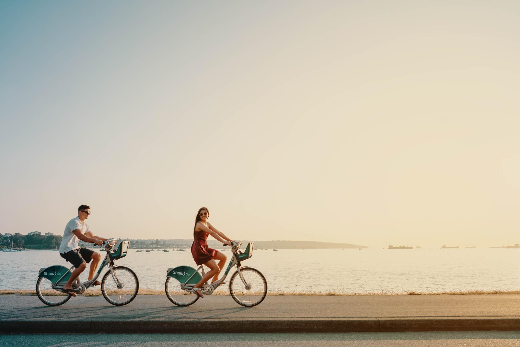 Lex & Josh Devy & Michelle Editorial Shoot Beach Ice Cream Bicycle Stanley Park-10.jpg