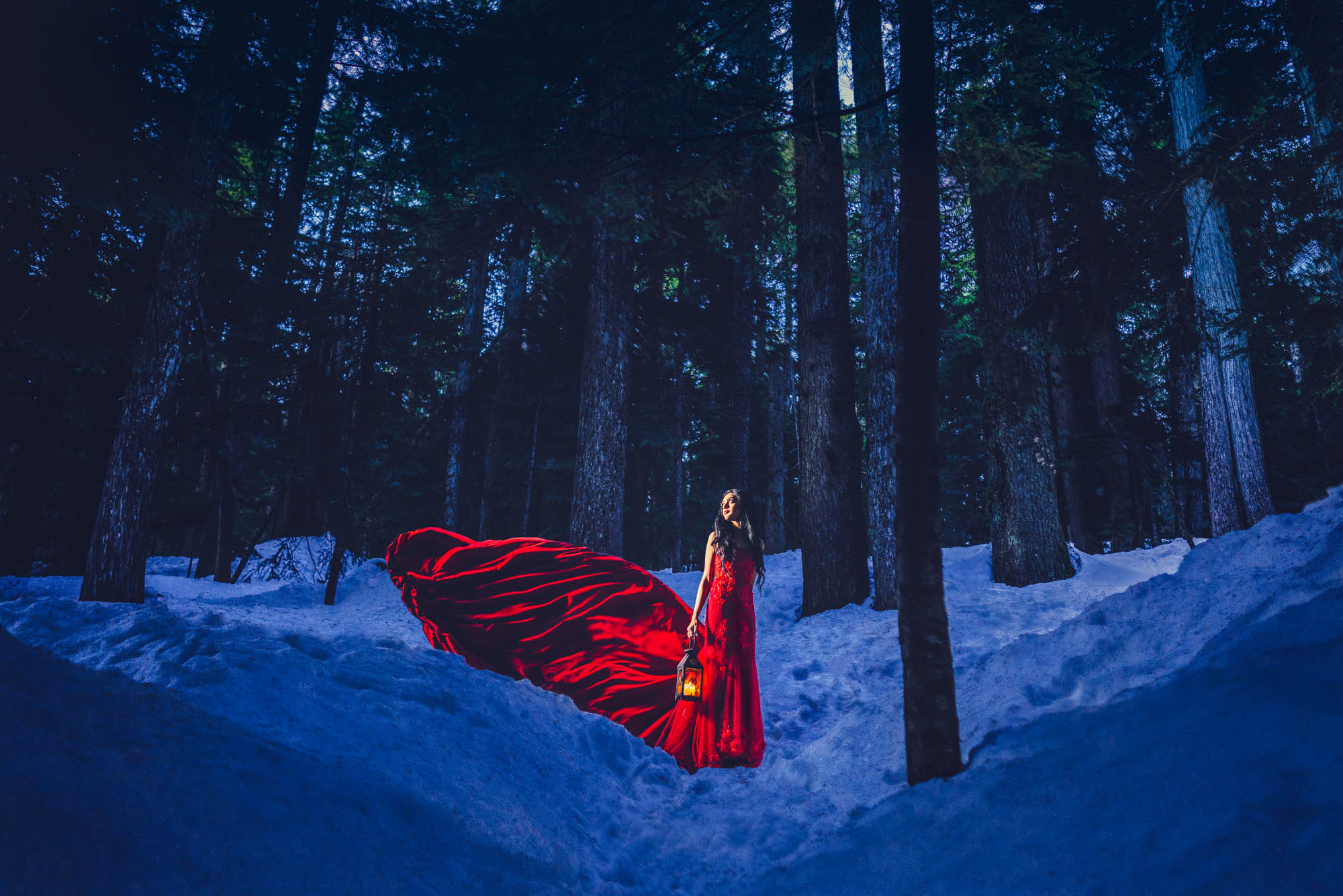 Lex & Josh Cypress Mountain Snow Red Dress Portrait Shoot-4.jpg